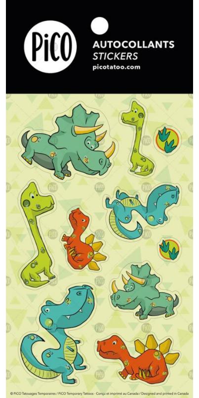 PiCO The Dinosaur Stickers
