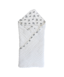 Nest Designs 9 Layer Organic Cotton Hooded Baby Towel Wrap Pandamonium