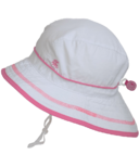 Calikids Quick-Dry Bucket Hat Extra Wide Brim White