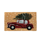 Harman Vintage Christmas Car Coir Door Mat