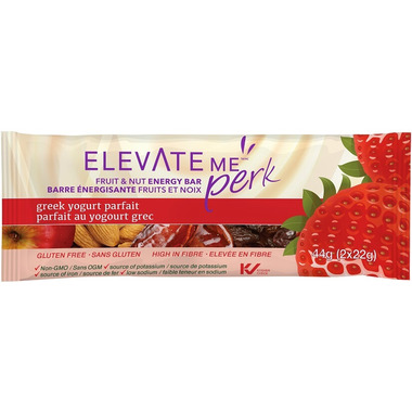 Elevate Me Perk Greek Yogurt Parfait Bars