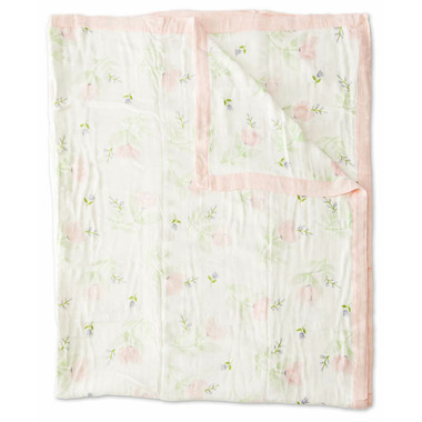 Little Unicorn Deluxe Muslin Quilt Big Kid Pink Peony