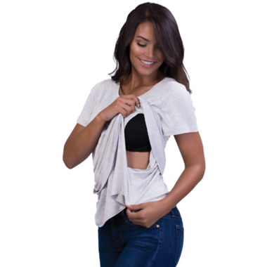 Belly Bandit Perfect Nursing Tee Heather Grey