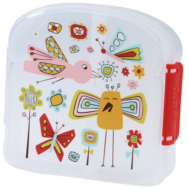 Sugarbooger Good Lunch Sandwich Box Birds and Butterflies