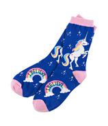Hatley Women's Crew Socks Rainbow Unicorns