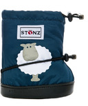 Stonz Sheep Navy Blue Toddler Booties