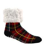 Pudus Classic Slipper Socks Plaid Lumberjack Red