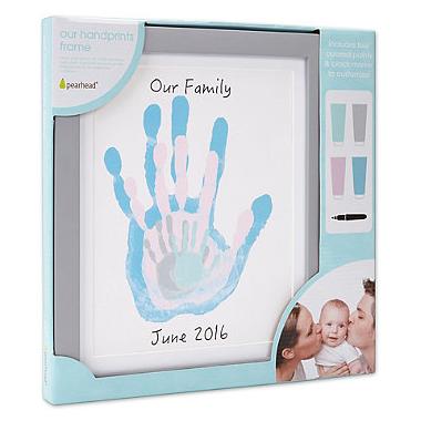 Pearhead Grey Family Handprint Frame