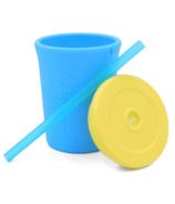 Silikids Silicone Straw Cup Sky Blue