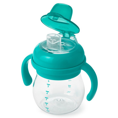 OXO Tot Transitions Soft Sippy Spout Cup with Handles Teal