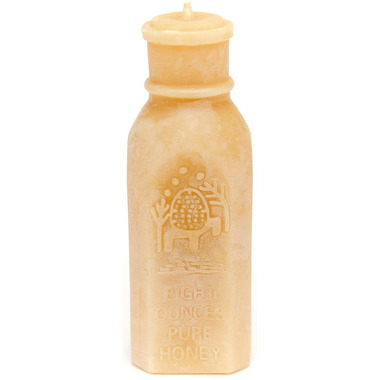 Bees Wax Works Honey Bottle Beeswax Candle