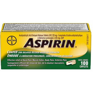 Aspirin Regular Strength Coated Caplets