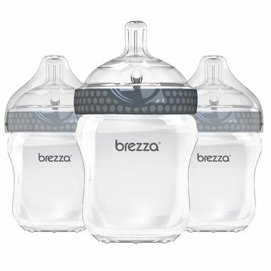 Baby Brezza Large Polypropylene Bottles Trio Grey