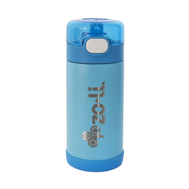 Zoli POW Squeak Double Walled Insulated Stainless Steel Bottle Blue