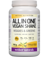 Webber Naturals Active Nutrition All In One Vegan Shake Vanilla Cream