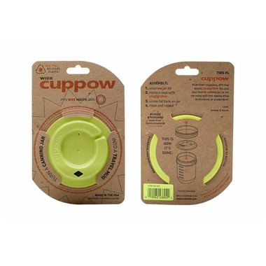 Cuppow Canning Jar Drinking Lid Chartreuse