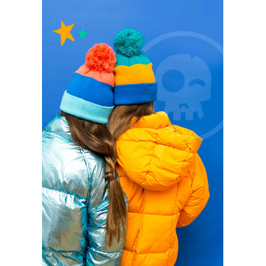 Headster Kids Tricolour Mustard Tuque