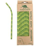 Aardvark Biodegradable Paper Straws Bamboo Design