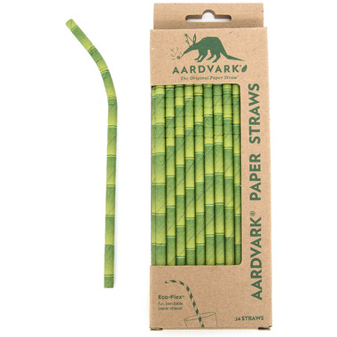 Aardvark Biodegradable Paper Straws Bamboo Design