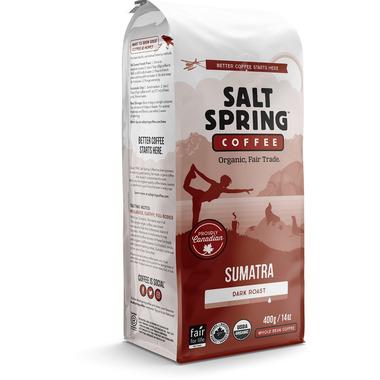 Salt Spring Coffee Sumatra Dark Roast Whole Bean Coffee