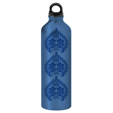 Gaiam Blue Three Medallions Screw Top Aluminum Water Bottle