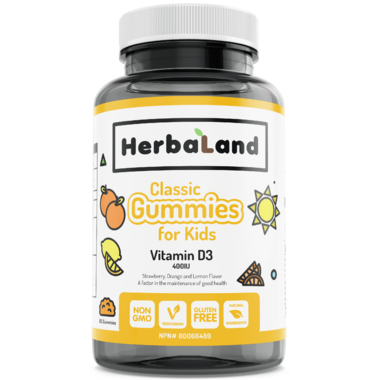 Herbaland Classic Gummy for Kids Vitamin D