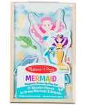 Melissa & Doug Mermaid Dolphin Magnetic Dress-Up Wooden Dolls
