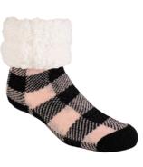 Pudus Lumberjack Slipper Sock Pink Dogwood