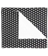 OLLI + LIME Black Swiss Cross Plush Blanket
