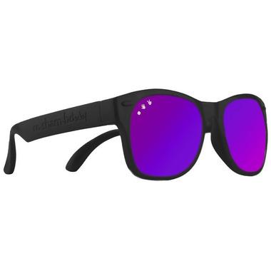 ro sham bo baby Bueller Shades Black and Mirrored Purple