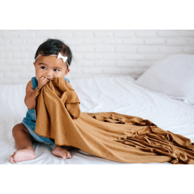 Copper Pearl Camel Swaddle Blanket