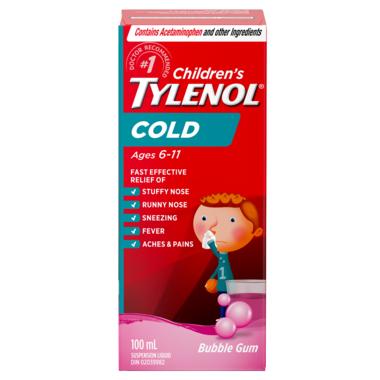 Tylenol Children\'s Cold Suspension Liquid