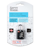 Savvy Home TSA 3 Dial Combo Lock