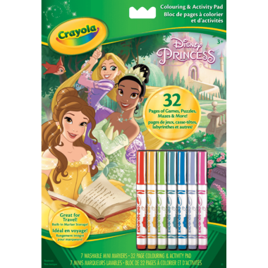 Crayola Disney Princess Colouring and Activity Pad
