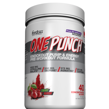 Fusion Bodybuilding One Punch Pre-Workout Formula Cherry Blaster