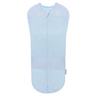 SNOO Organic Cotton Sleepea 5-Second Swaddle Blue with Stars