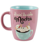 Little Blue House Curved Ceramic Mug La Vida Mocha