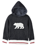Hatley Charcoal Bear Kids Heritage Pullover Hoodie