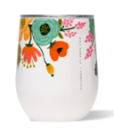 Corkcicle Rifle Paper Co. Stemless Gloss Cream Lively Floral