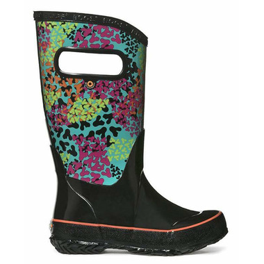 Bogs Rain Boot Footprints Black Multi