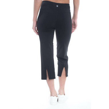 Gaiam Om Straight Yoga Capri Black