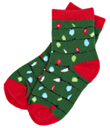 Little Blue House Kid's Socks Green Northern Lights