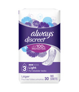 Always Discreet Incontinence Pads Light Absorbency