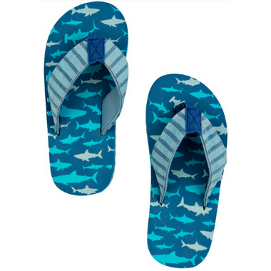 Little Blue House Kids Flip Flops Shark Attack