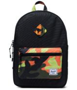Herschel Supply Heritage Youth Backpack Black & Neon Camo
