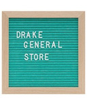 Drake General Store Felt Letter Board Small Teal