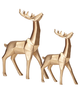 Harman Geometric Standing Reindeer Bundle Gold