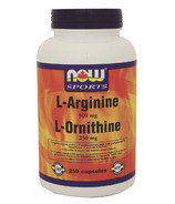 NOW Sports L-Arginine & L-Ornithine 500/250 mg