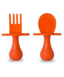 Grabease First Spoon and Fork Set Orange