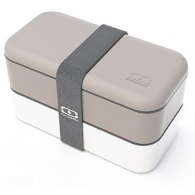 Monbento MB Original The Bento Box in Grey & White